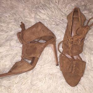 Zara Lace Up Sandal Heels